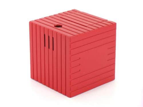 briquet de table electronique cube rouge