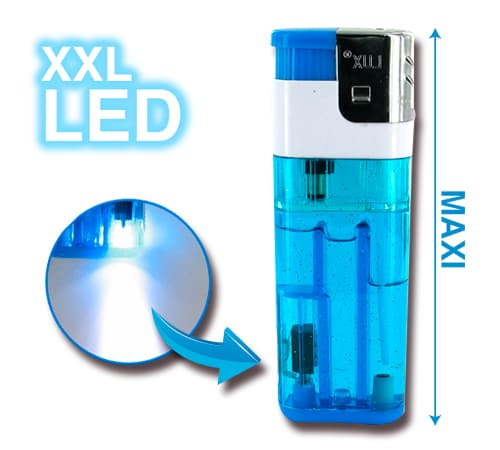 Briquet Electronique XXL � LED Bleu
