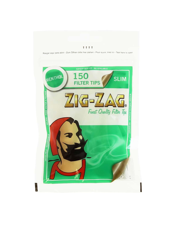 filtre en mousse zig-zag menthol