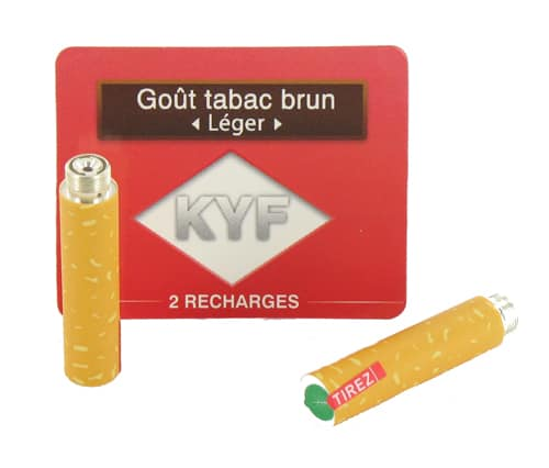 recharge cigarette electronique KYF tabac brun