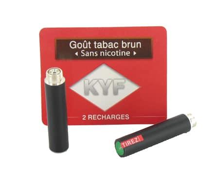 2 recharges noires go t tabac brun sans nicotine cigarette k. Black Bedroom Furniture Sets. Home Design Ideas
