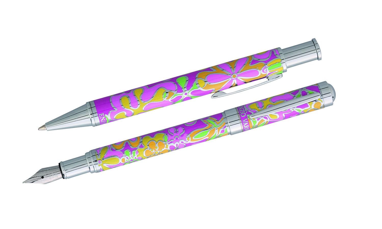parure stylo enzo varini fleurie rose 59 90. Black Bedroom Furniture Sets. Home Design Ideas
