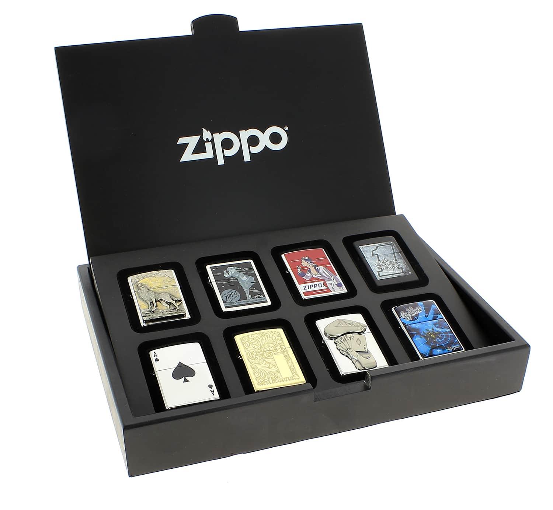 Coffret 8 zippo achat presentoir briquet zippo bois 42 90 for Exterieur zippo