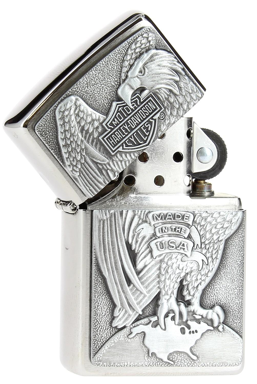 Zippo harley davidson eagle on globe emblem 49 00 for Exterieur zippo