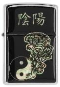 Zippo Pearl Ying Yang Tigre