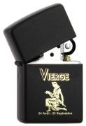 Zippo Zodiac Noir Vierge 80z555
