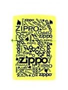 Zippo Logo Neon Jaune Fluo