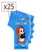 Papier � rouler Zig Zag bleu x25
