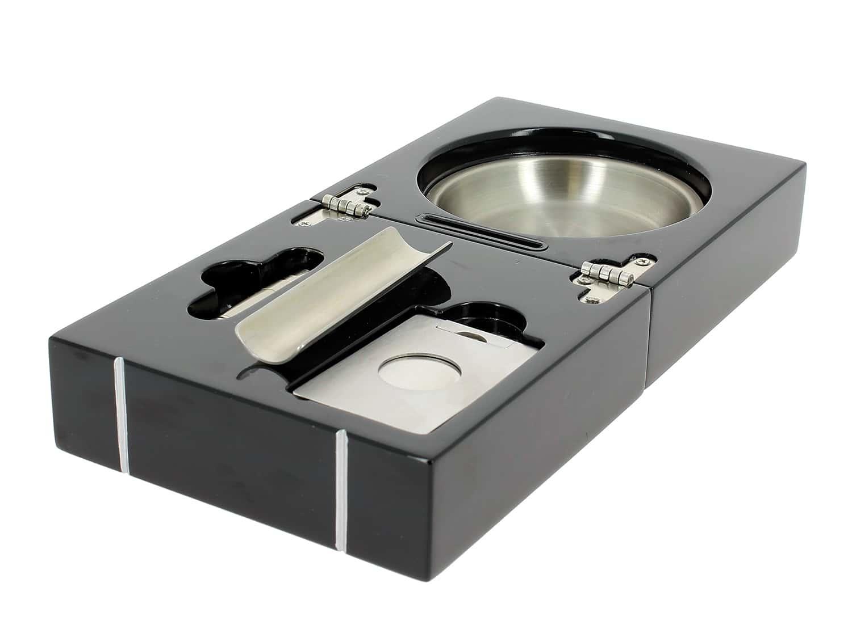 cendrier cigare de voyage laqu noir 59 00. Black Bedroom Furniture Sets. Home Design Ideas