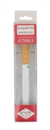 E-cigarette Jetable KYF Tabac Blond Nicotine Léger