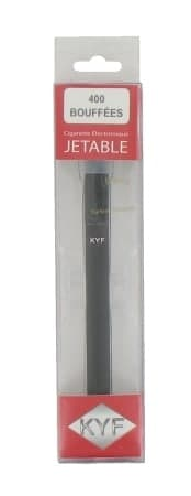E-cigarette Jetable noire KYF Tabac Blond Nicotine Fort