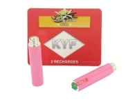 2 Recharges roses Go�t Vanille nicotine fort Cigarette KYF