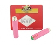 2 Recharges roses Go�t Vanille nicotine l�ger Cigarette KYF