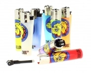 2 Briquets Clipper The Bulldog Couleur surprise