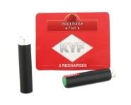 2 Recharges noires Go�t Fraise nicotine fort Cigarette KYF