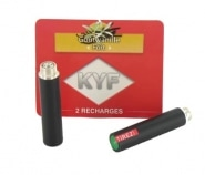 2 Recharges noires Go�t Vanille nicotine fort Cigarette KYF