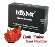 5 Recharges Go�t Fraise sans nicotine Cigarette Edsylver