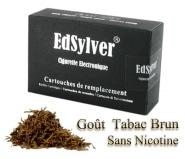 5 Recharges Go�t Tabac Brun sans nicotine Cigarette Edsylver