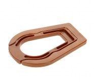 Support 1 pipe pliable marron