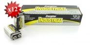 Pile 6LR61 9V Energizer Industrial x 12