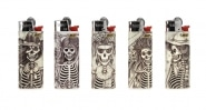 5 briquets Bic mini � pierre Skeleton