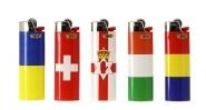 5 briquets Bic maxi à pierre Euro Flag