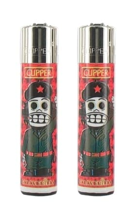 2 briquets à pierre Clipper Calaveritas
