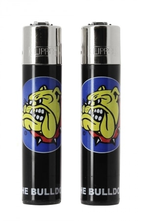 2 Briquets Clipper The Bulldog