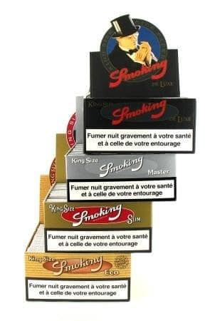 Papier à rouler Smoking Slim Pack 4 boites assorties