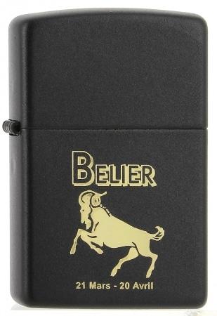 Zippo Zodiac Noir Belier 80z550