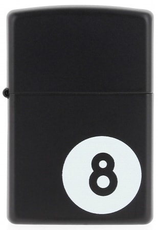 zippo 8 ball liquorice 88z480