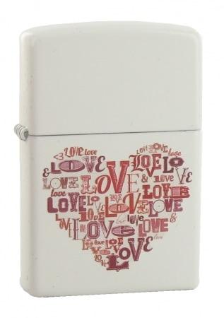 Zippo Love Heart Blanc