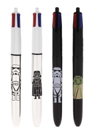 Stylo Bic 4 couleurs Starwars noir Yoda