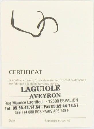 Couteau Laguiole Fleur de Diamant
