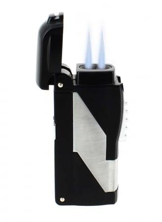 Briquet Tycoon Punch III Double jet noir