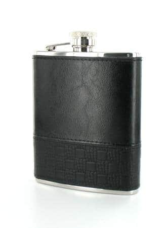 Flasque à alcool gainée noire