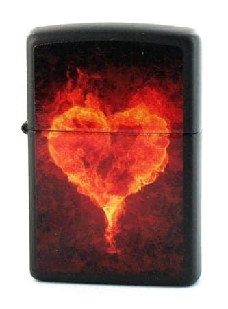 Zippo Coeur enflammé