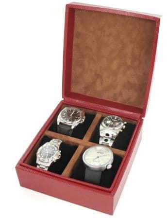 Boite 4 montres Gain�e L�zard Rouge