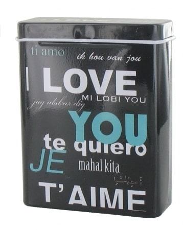 Boite a cigarette I Love You Noir