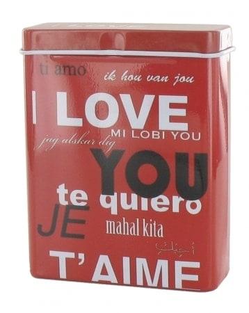 Boite a cigarette I Love You Rouge