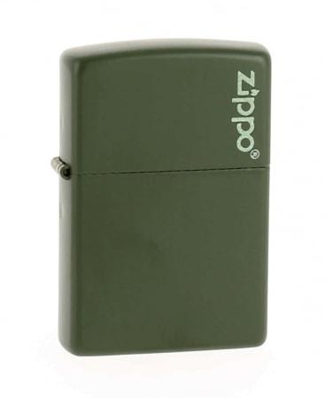 Zippo Logo Kaki Mat