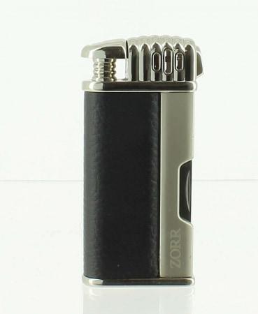 Briquet Pipe Cuir Noir Gun avec Accessoires