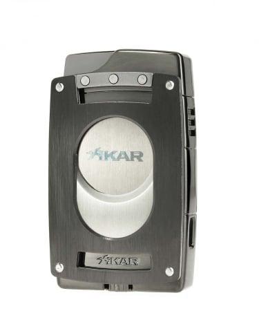 Briquet et coupe cigare aimantés Xikar Ultra Combo Gris