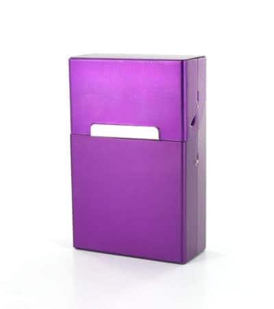 Etui cigarettes Aluminium Violet