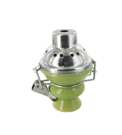 Foyer pour narguil� grand mod�le vert avec couvercle