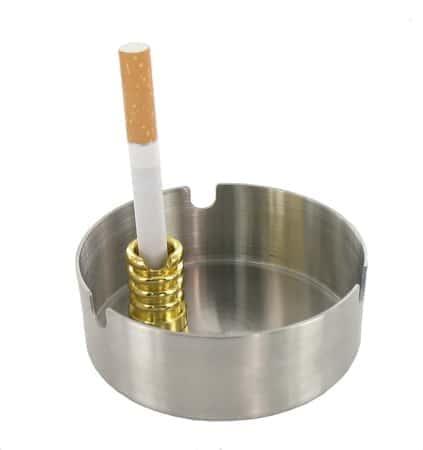 Etouffoir avec Encoche pour Cigarette Doré