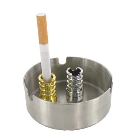 Ensemble 2 Etouffoirs avec Encoche pour Cigarette Chrom� et Dor�