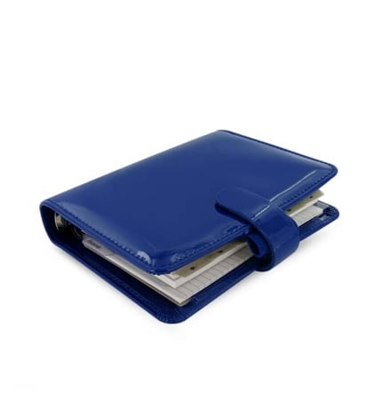 Agenda Filofax Pocket Patent Bleu Fonc�