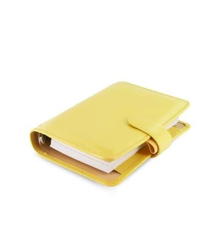 Agenda Filofax Pocket Patent Jaune