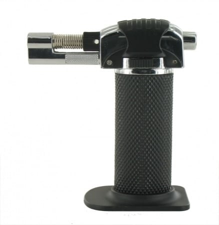 Briquet de table Torche Noir double flamme